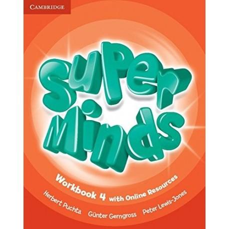Super Minds Level 4 Workbook with Online Resoruces and Super Grammar Booklet (4º Primaria)